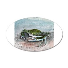 blue crab acrylic painting Wall Decal