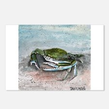 blue crab acrylic painting Postcards (Package of 8