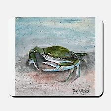 blue crab acrylic painting Mousepad
