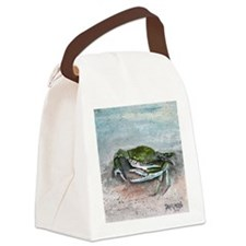 blue crab acrylic painting Canvas Lunch Bag