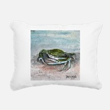 blue crab acrylic painting Rectangular Canvas Pill