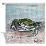 Acrylic crab Shower Curtains