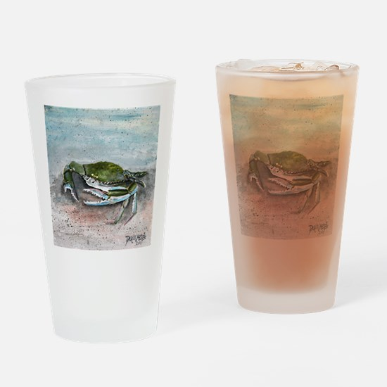 blue crab acrylic painting Drinking Glass