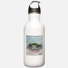 blue crab acrylic painting Water Bottle