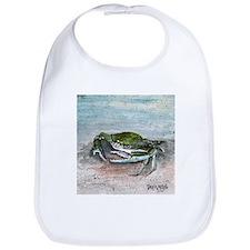 blue crab acrylic painting Bib