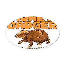 Oh No Honey Badger Oval Car Magnet