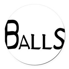 Balls Round Car Magnet