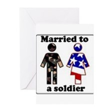 Married A Soldier Greeting Cards (Pk of 10)