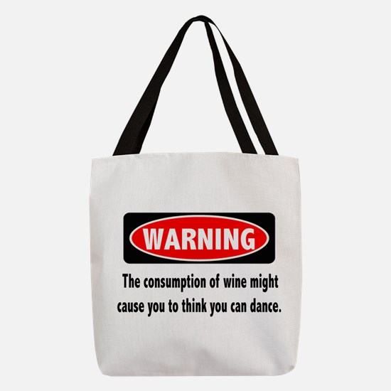Wine Warning Polyester Tote Bag
