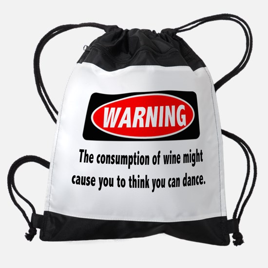 Wine Warning Drawstring Bag