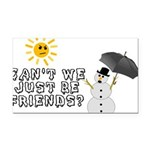 Just Be Friends Rectangle Car Magnet