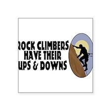 "Rock Climbers Square Sticker 3"" x 3"""