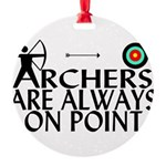 Archers On Point Round Ornament