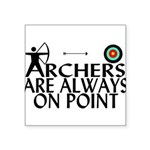 Archers On Point Square Sticker 3