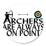 Archers On Point Round Car Magnet