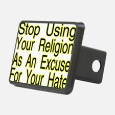 Stop Using Religion Hitch Cover