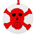 Peace Skull Round Ornament