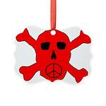 Peace Skull Picture Ornament