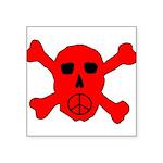 Peace Skull Square Sticker 3