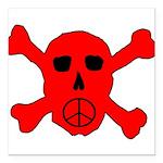 Peace Skull Square Car Magnet 3