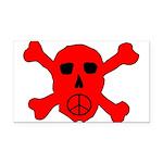 Peace Skull Rectangle Car Magnet