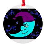 Sleepy Moonlight Round Ornament