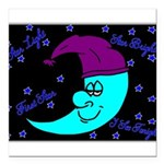 Sleepy Moonlight Square Car Magnet 3