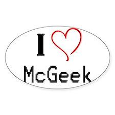 I <3 McGeek Decal