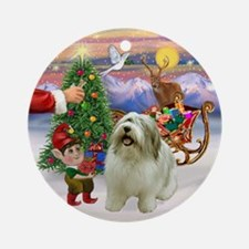 Santa's Treat for his PON Ornament (Round)