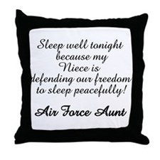 AF Aunt Niece Sleep Well Throw Pillow