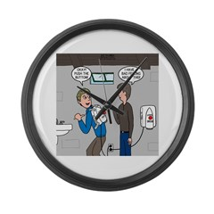 Hand Dryer Jetpack Large Wall Clock