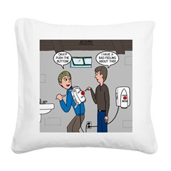 Hand Dryer Jetpack Square Canvas Pillow