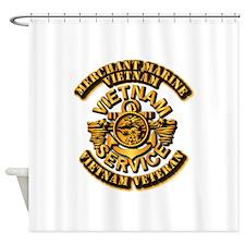 Usmm - Merchant Marine Vietnam Vet Shower Curtain