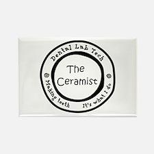 Lab is good. The Ceramist Rectangle Magnet