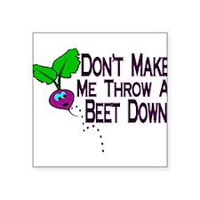"Beet Down Square Sticker 3"" x 3"""