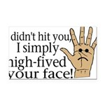 High Fived Face Rectangle Car Magnet