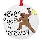 Moon A Werewolf Round Ornament