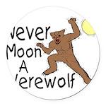 Moon A Werewolf Round Car Magnet
