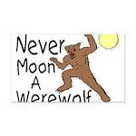 Moon A Werewolf Rectangle Car Magnet