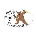 Moon A Werewolf Oval Car Magnet