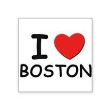 I love Boston Rectangle Sticker