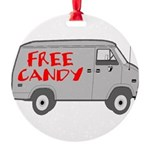 Free Candy Round Ornament