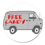 Free Candy Round Car Magnet