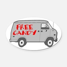 Free Candy Oval Car Magnet