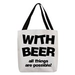 FIN-beer-all-things... Polyester Tote Bag