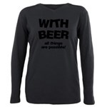 FIN-beer-all-things... Plus Size Long Sleeve Tee