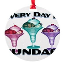 Sundae Everyday Ornament