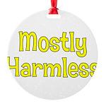 Harmless Round Ornament
