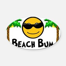 Beach Bum Oval Car Magnet