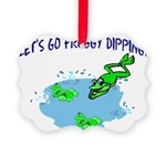 Froggy Dipping Picture Ornament